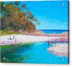 Beach Picnic Acrylic Print by Jan Matson