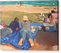Beach Picnic Acrylic Print by Merle Keller