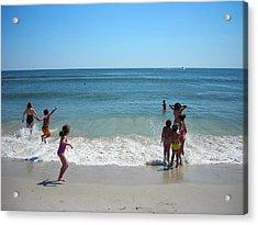 Beach Play Acrylic Print by Ruth Sharton