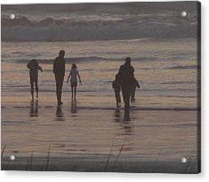 Beach Quality Time Acrylic Print by Gregory Smith