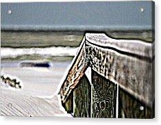 Beach Rail Acrylic Print