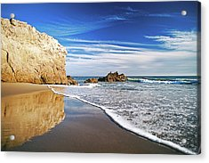 Beach Reflections Acrylic Print by Aron Kearney