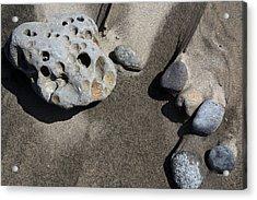 Acrylic Print featuring the photograph Beach Rocks by Joanne Coyle