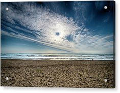 Acrylic Print featuring the photograph Beach Sand With Clouds - Spiagggia Di Sabbia Con Nuvole by Enrico Pelos