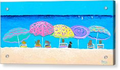 Beach Sands Perfect Tans Acrylic Print by Jan Matson