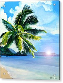 Beach Scene Acrylic Print by Curtiss Shaffer