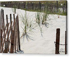 Beach Scene Acrylic Print by Dennis Stein