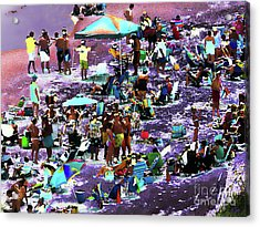 Beach Scene Solarized Acrylic Print by Jeff Breiman