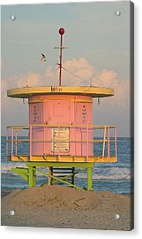 Beach Shack Acrylic Print by Donald Tusa