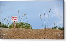 Beach Signs Acrylic Print by JAMART Photography
