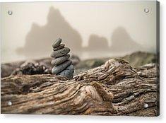 Beach Stack Acrylic Print