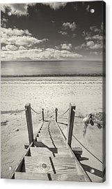 Beach Stairs Wellfleet Acrylic Print by Dapixara Art