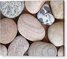 Beach Stones Acrylic Print by Gill Billington