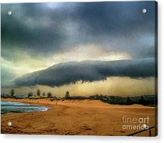 Acrylic Print featuring the photograph Beach Storm At Sunset By Kaye Menner by Kaye Menner