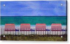 Beach Stripes Acrylic Print by Cory Clifford