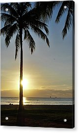 Acrylic Print featuring the photograph Beach Sunset by Amee Cave
