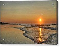 Topsail Nc Beach Sunrise Acrylic Print