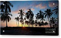 Beach Sunset Acrylic Print by Mike Reid