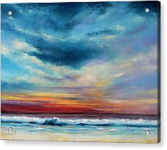 Beach Sunset Acrylic Print by Prashant Shah