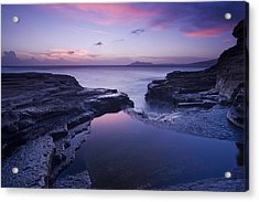 Beach Sunset Acrylic Print by Zarija Pavikevik