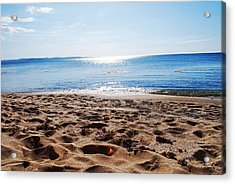 Beach Acrylic Print by Susette Lacsina
