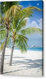 Beach Time In Turks And Caicos Acrylic Print