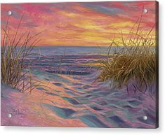 Beach Time Serenade Acrylic Print by Lucie Bilodeau