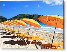 Beach Umbrellas Acrylic Print