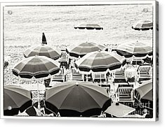 Beach Umbrellas In Nice Acrylic Print by Elena Elisseeva