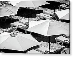 Acrylic Print featuring the photograph Beach Umbrellas by Marion McCristall
