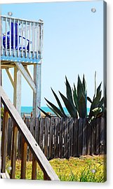 Beach View Acrylic Print by Harrison Cooper