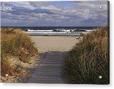 Beach Walk Acrylic Print by AnnaJanessa PhotoArt