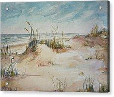 Beach Walk Acrylic Print by Dorothy Herron