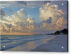 Beach Walk Acrylic Print by HH Photography of Florida