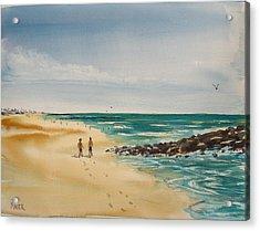 Beach Walk Acrylic Print by Pete Maier