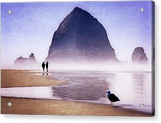 Acrylic Print featuring the photograph Beach Walk by Scott Kemper