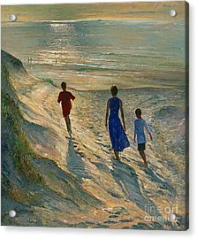 Beach Walk Acrylic Print by Timothy Easton
