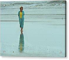 Beach Walkin' Acrylic Print by Laura Ragland