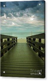 Bridge To Beach Acrylic Print