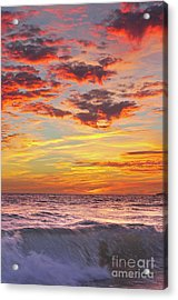 Beach Waves At Sunset In Gale Beach Acrylic Print