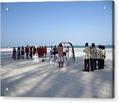 Beach Wedding In Kenya Acrylic Print