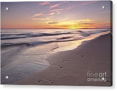 Beach Welcoming Twilight Acrylic Print