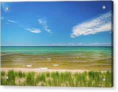 Beach With Blue Skies And Cloud Acrylic Print