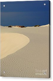 Beach With No Water Acrylic Print by Mark Grayden