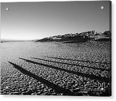 Beach With Shadows Acrylic Print by Sascha Meyer