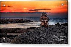 Acrylic Print featuring the photograph Beach Zen by Mark Miller