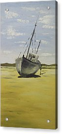 Beached At Bunbeg Acrylic Print by Alan Hogan