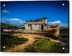 Beached Boat Acrylic Print