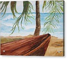 Beached Boat Acrylic Print