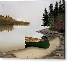 Beached Canoe In Muskoka Acrylic Print